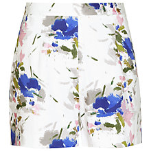 Buy Reiss Alexis Printed Shorts, White Online at johnlewis.com