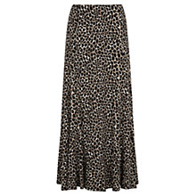 Buy Viyella Animal Print Maxi Skirt, Black Online at johnlewis.com