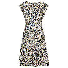 Buy Reiss Zena Printed Floral Dress, Mercury Online at johnlewis.com