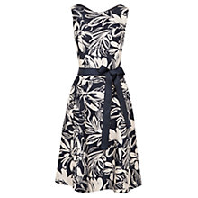 Buy Viyella Floral Fit And Flare Dress, Navy Online at johnlewis.com
