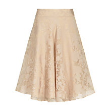 Buy Reiss Elsa Devore Skirt, Nude Online at johnlewis.com