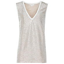 Buy Reiss Ona Vest, Silver Metallic Online at johnlewis.com
