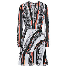 Buy Reiss Lori Asymmetrical Dress, Pomegranate Online at johnlewis.com
