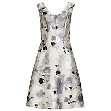 Buy Reiss Melba Jacquard Dress, Silver Online at johnlewis.com