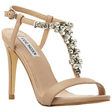 Buy Steve Madden Alizza Embellished Sandals, Natural Online at johnlewis.com