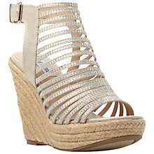 Buy Steve Madden Garrden Gladiator Espadrille Wedges, Gold Online at johnlewis.com