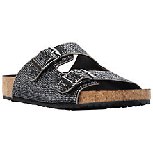 Buy Steve Madden Rivitt Rhinestone Slider Sandals, Pewter Online at johnlewis.com