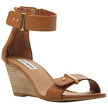 Buy Steve Madden Narissaa Leather Wedge Heeled Sandals Online at johnlewis.com