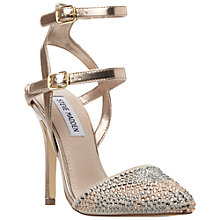 Buy Steve Madden Porttt Studded Multi Strap Court Shoes, Pewter Online at johnlewis.com