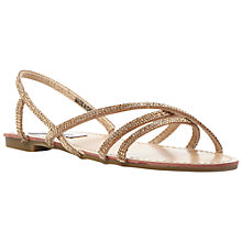 Buy Steve Madden Silviaa Rhinestone Strappy Sandals Online at johnlewis.com