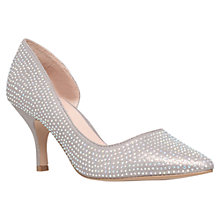Buy Carvela Kane Asymetric Stiletto Court Shoes, Silver Online at johnlewis.com