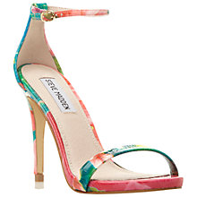 Buy Steve Madden Stecy Barely There High Heel Sandals, Reptile Online at johnlewis.com
