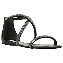 Buy Steve Madden Zsaza Cross Over Strap Sandals, Black Online at johnlewis.com