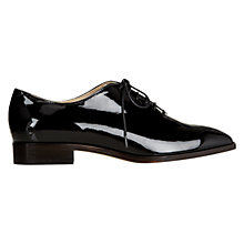 Buy Hobbs Ardie Patent Leather Brogues, Black Online at johnlewis.com