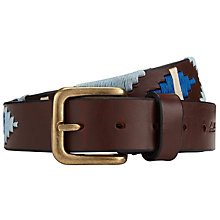 Buy Pampeano Rio Leather Polo Belt, Blue Online at johnlewis.com