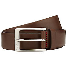 Buy BOSS Leather C-Eberio Belt, Brown Online at johnlewis.com