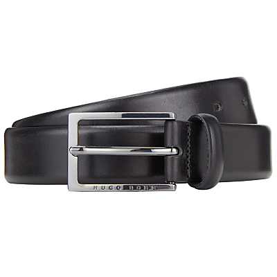 BOSS Ceddy Leather Belt, Black