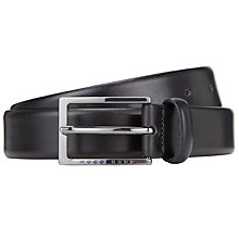 Buy BOSS Ceddy Leather Belt, Black Online at johnlewis.com