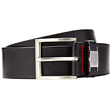 Buy BOSS Connio Leather Belt, Black Online at johnlewis.com