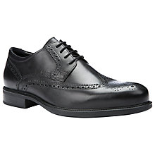 Buy Geox Carnaby Leather Brogues, Black Online at johnlewis.com