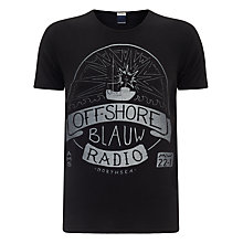 Buy Scotch & Soda Pirate Rocker Printed T-Shirt, Black Online at johnlewis.com