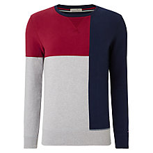 Buy Hilfiger Denim Haristo Panel Sweatshirt, Black Iris/Multi Online at johnlewis.com