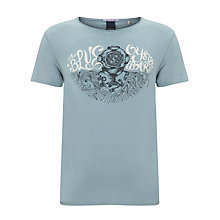 Buy Scotch & Soda Vintage Explorer T-Shirt, Harbour Blue Online at johnlewis.com