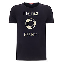 Buy Scotch & Soda Swim Printed T-Shirt, Midnight Online at johnlewis.com