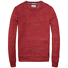 Buy Hilfiger Denim Hank Crew Neck Sweatshirt, Rhubarb Online at johnlewis.com