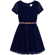Buy Yumi Girl Lace Skater Dress, Navy Online at johnlewis.com
