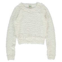 Buy Yumi Girl Daisy Eyelash Jumper, Ivory Online at johnlewis.com