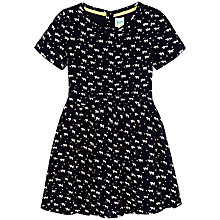 Buy Yumi Girls' Cat Print Dress, Navy Online at johnlewis.com