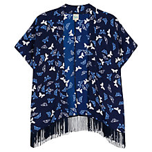 Buy Yumi Girl Butterfly Print Kimono, Navy Online at johnlewis.com