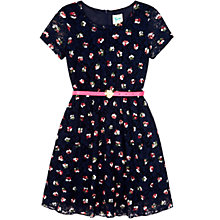 Buy Yumi Girl Floral Lace Dress, Navy Online at johnlewis.com