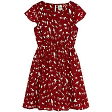 Buy Yumi Girl Bird Print Dress, Red Online at johnlewis.com