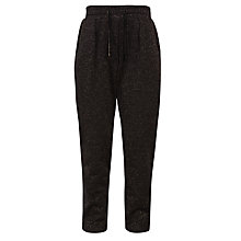 Buy John Lewis Girl Metallic Fibre Jogger Trousers, Black Online at johnlewis.com