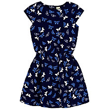 Buy Yumi Girl Butterfly Print Dress, Navy Online at johnlewis.com