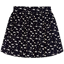 Buy Yumi Girl Cat Print Skirt, Blue Online at johnlewis.com