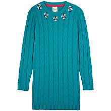 Buy Yumi Girl Jeweled Cable Knit Dress Online at johnlewis.com