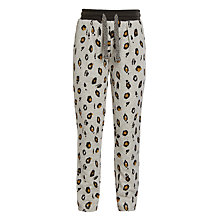 Buy John Lewis Girl Leopard Print Joggers, Grey Marl/Multi Online at johnlewis.com