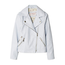 Buy Mango Kids Girls' Biker Jacket, Blue Online at johnlewis.com