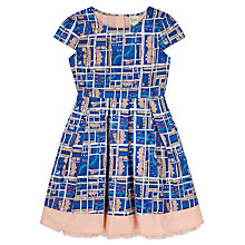Buy Yumi Girl Notting Hill Print Cotton Dress, Blue Online at johnlewis.com