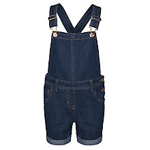 Buy John Lewis Girl Dark Denim Dungarees Shorts, Denim Online at johnlewis.com