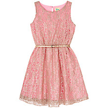 Buy Yumi Girl Metallic Lace Dress Online at johnlewis.com