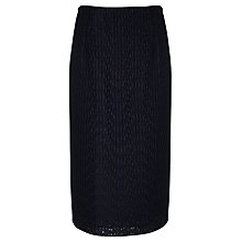 Buy Somerset by Alice Temperley Lace Pencil Skirt, Navy Online at johnlewis.com