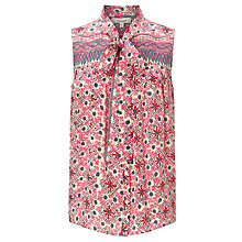 Buy Somerset by Alice Temperley Mexican Border Silk Top, Pink Online at johnlewis.com