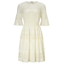 Buy Somerset by Alice Temperley Lace Insert Silk Dress, Ivory Online at johnlewis.com