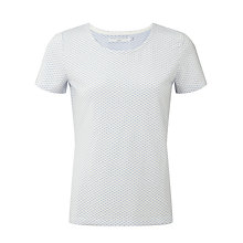 Buy John Lewis Capsule Collection Short Sleeved Textured Spotted Top, Blue/White Online at johnlewis.com