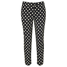 Buy Somerset by Alice Temperley Diamond Print Trousers, Black Online at johnlewis.com