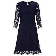 Buy Somerset by Alice Temperley Lace Dress, Navy Online at johnlewis.com